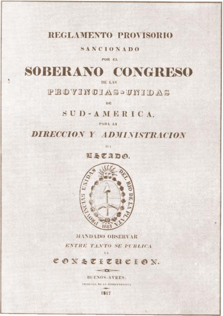 Historia Argentina - El congreso de Tucumán-El Reglamento provisorio.