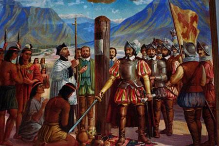 Historia Argentina - Conquista española en el rio de la plata -  Descubrimiento conquista y colonizacion del Tucuman - Fundación de Jujuy y  La Rioja